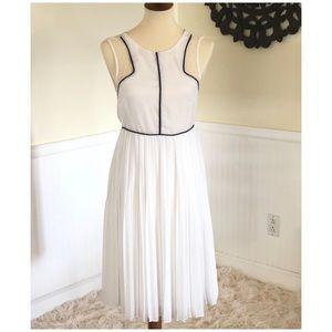 Sugarlips Pleated Chiffon Midi Dress (XS)